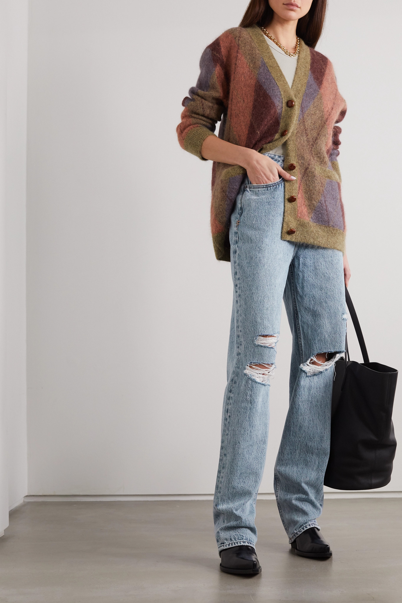 Playback Vibez Trashed distressed high-rise jeans