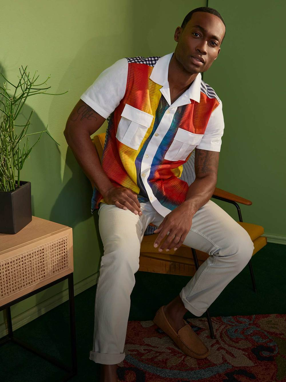 Limited Edition Crossroads Short Sleeved Shirt from the Robert Graham Spring 2021 Collection